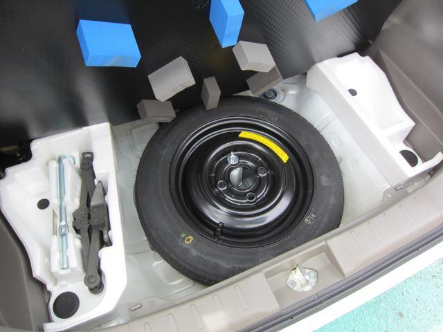もしもの時に安心 スペアタイヤも装備されております