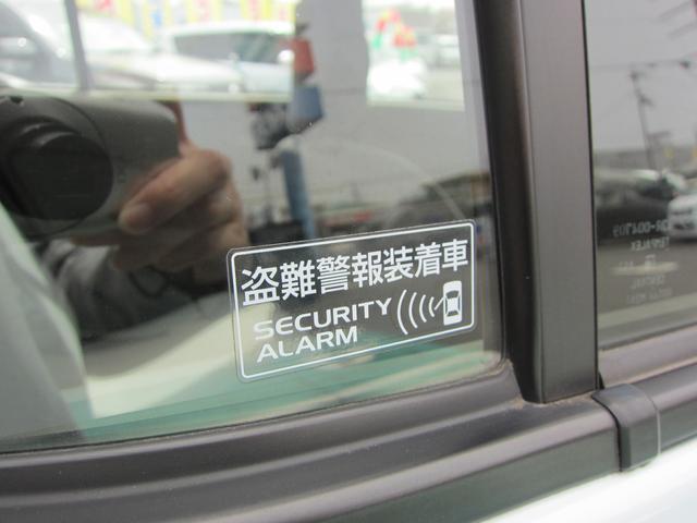 車上荒らしなどの防止になるセキュリティアラーム装備車