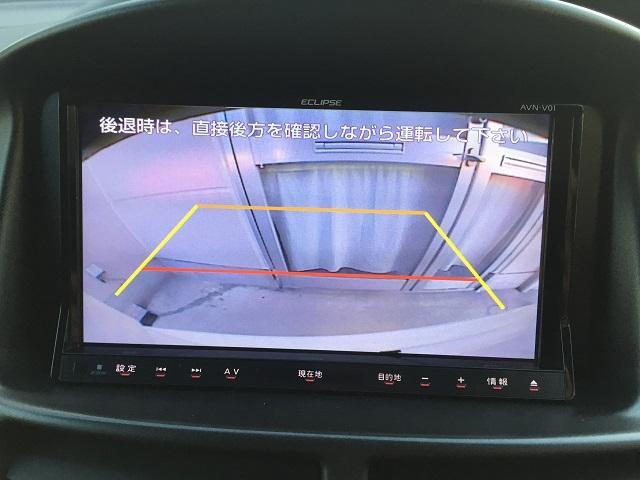 バックカメラも付いていますので後退時の後方確認もこれで安心です