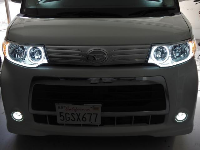 当店オリジナルLEDイカリングヘッドライト☆フォグライト新品LEDバルブ☆もちろん車検対応ですので安心です☆