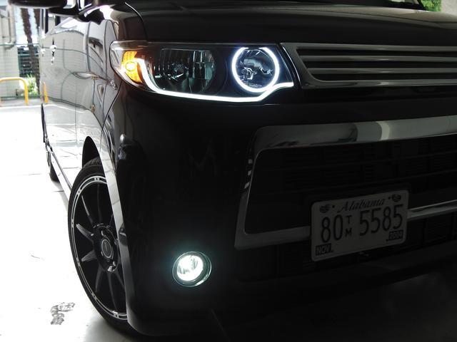 当店オリジナルLEDイカリングヘッドライト☆インナーブラック塗装★フォグライト新品LEDバルブ☆もちろん車検対応ですので安心です★