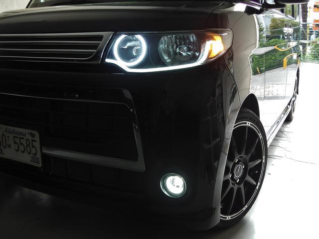 当店オリジナルLEDイカリングヘッドライト☆インナーブラック塗装★フォグライト新品LEDバルブ☆もちろん車検対応ですので安心です☆