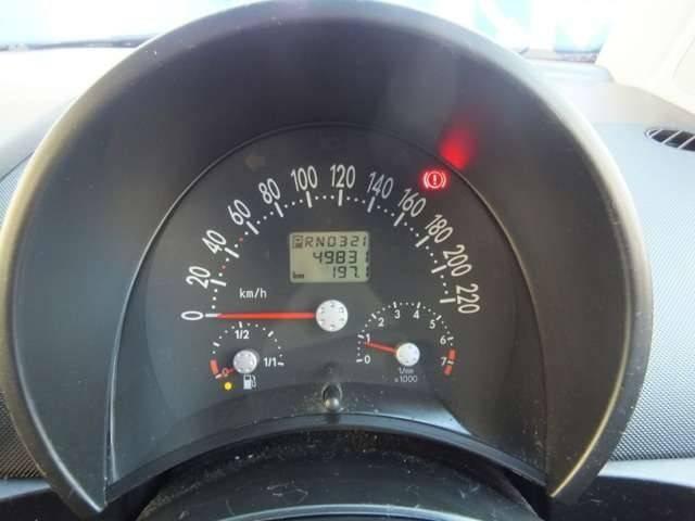 キュートなデザインのメーターパネル♪走行距離は49,831kmです!