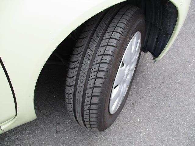 タイヤの溝、状態も良好。 納車後の点検整備もお任せください。