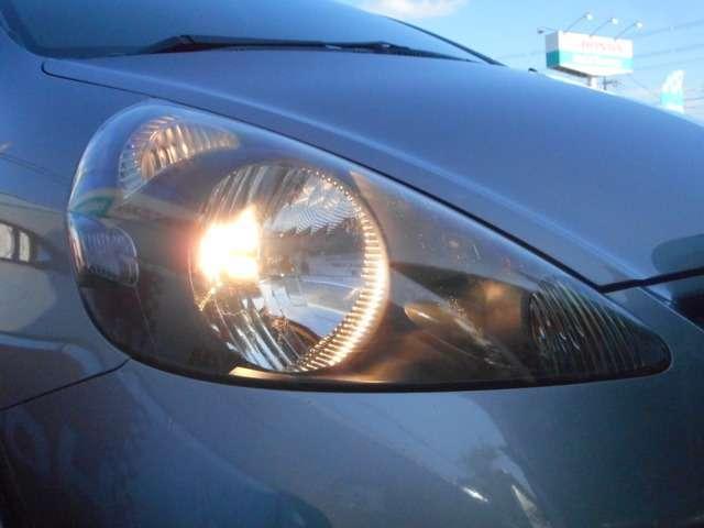 路面の凹凸が確認し易いハロゲンヘッドライトが付いています