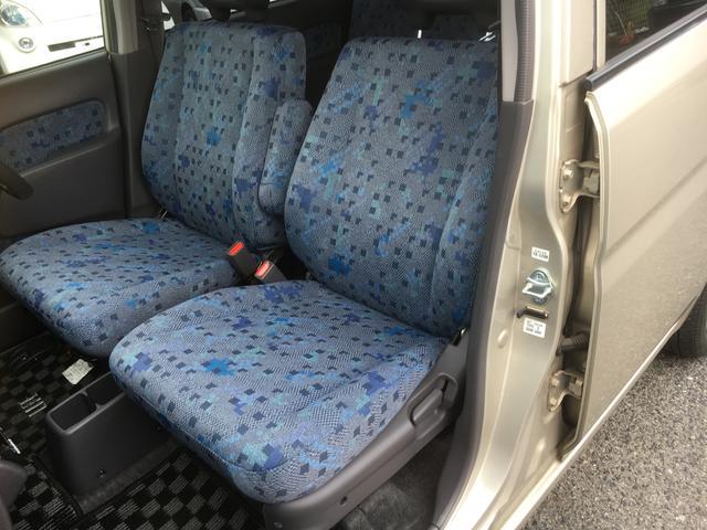 フロントシートも綺麗です。