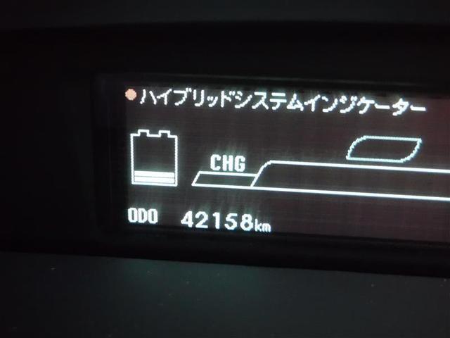 走行距離は約4.2万キロ!視認性の良いグリーン発光のデジタル表示ですので、とても見やすいですね