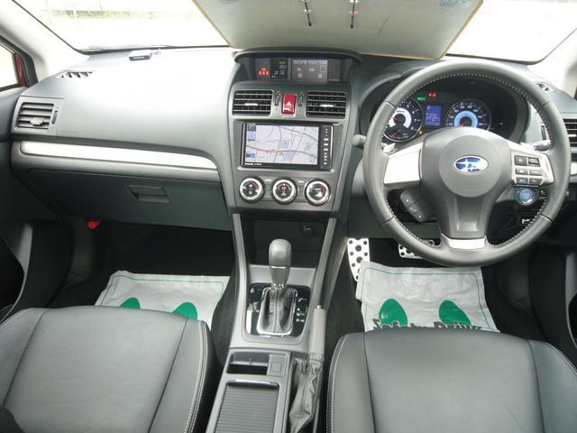スバル インプレッサXVハイブリッド 2.0i-L アイサイト 純メモリーナビ 革シート 4WD