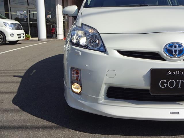 トヨタ プリウス Sツーリングセレクション 純正エアロ LEDライト 純正ナビ