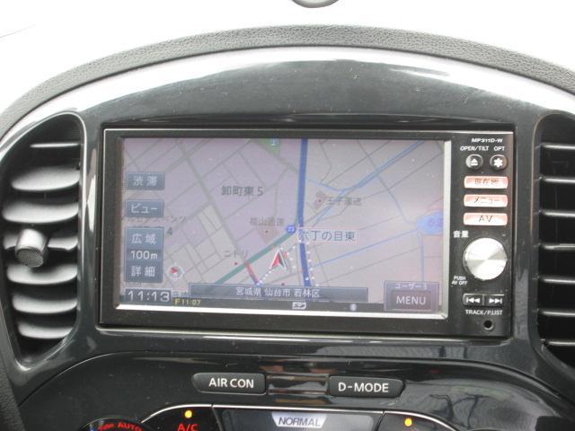 日産 ジューク 15RX タイプV メモリーナビTV スタットレス