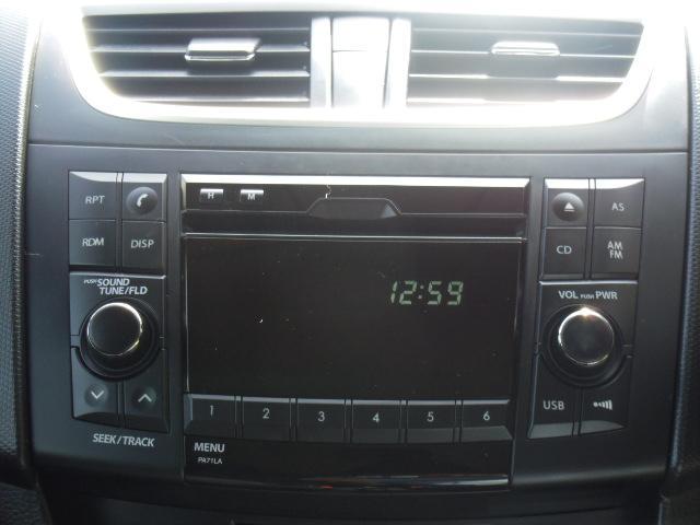 スズキ スイフト XG 純正オーディオ社外アルミキーレス盗難防止装置