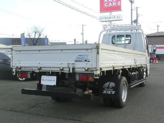 いすゞ エルフトラック ロング アイドリングストップ デュアルモードMT 木製荷台