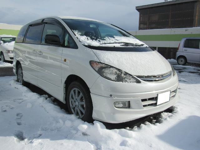 トヨタ エスティマL アエラス 4WD 社外HDDナビ 4方位ソナー ETC