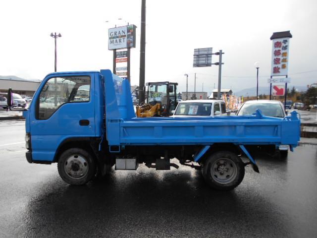 いすゞ エルフトラック 4WD フルフラットロー 2t強化ダンプ スムーサー5速