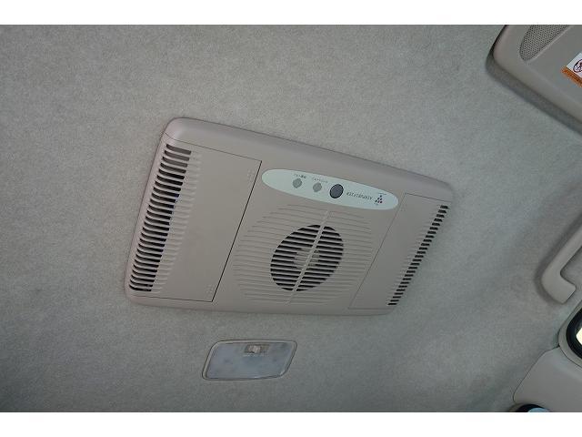 天井にはオプションの空気清浄器が付いています