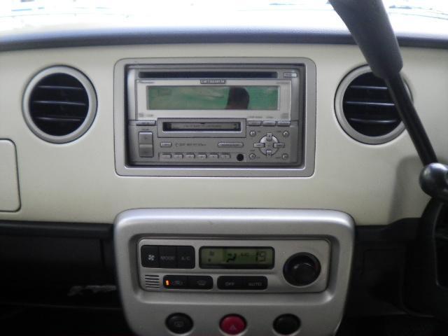 ドライブ快適!社外オーディオ装備!液晶部ワレございますがCD再生確認済み!