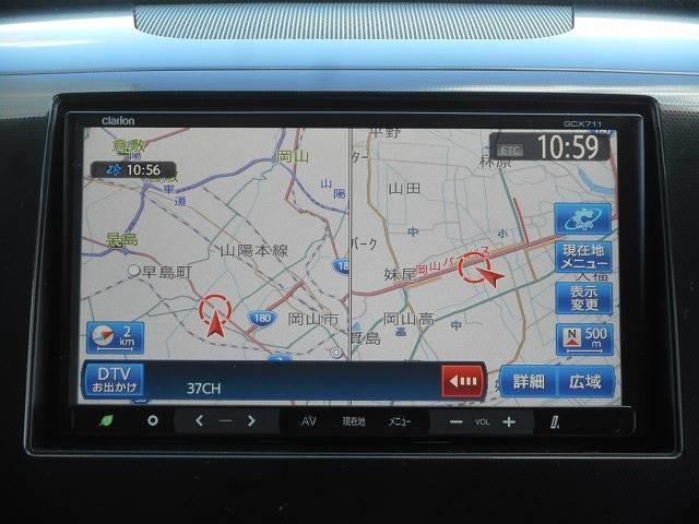 社外SDナビ・フルセグTV・DVD再生・Bluetooth機能付です。