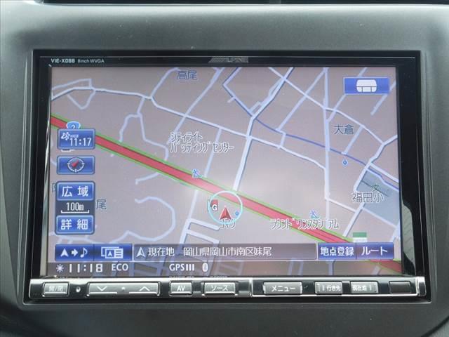アルパイン8インチHDDナビ・フルセグTV・DVD再生・Bluetooth・バックモニター付です。