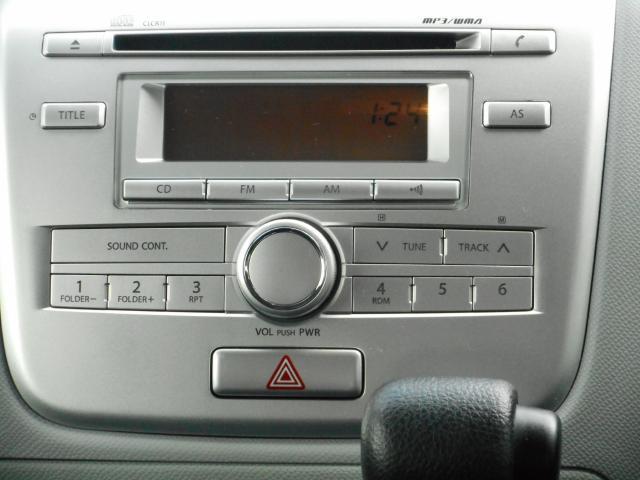 純正CDデッキは使いやすく、統一感があっていいですね