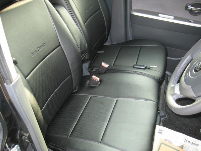 新品のレザー調シートカバーを取付ました!車内の高級感がアップしますね!