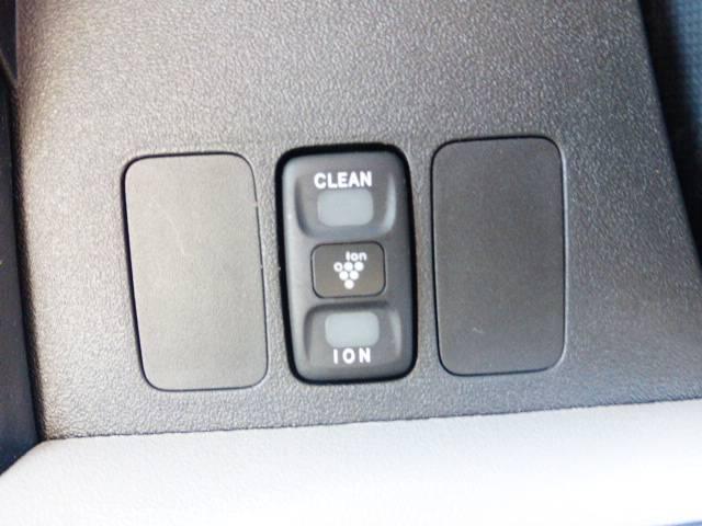 ionとcleanのボタンが付いていてコレを使えば室内が爽やかになりますね♪