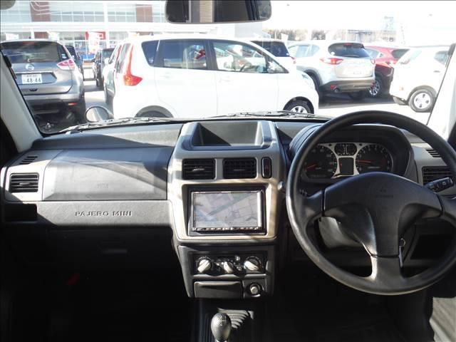 三菱 パジェロミニ VR4WD社外HDDナビMサーバーイージーセレクト4WD