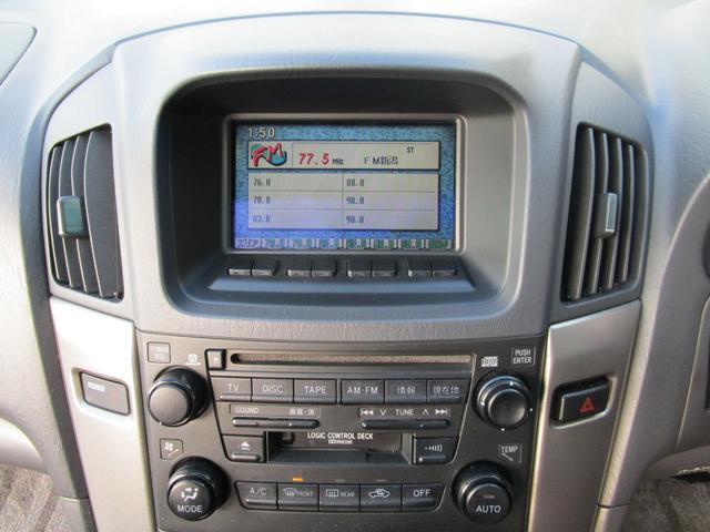 トヨタ ハリアー 3.0FOUR サンルーフ DVDナビ キーレス