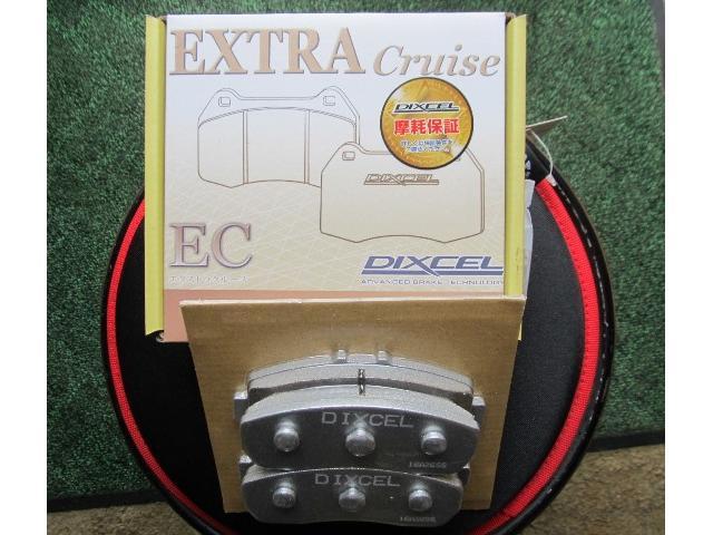 フロントブレーキパッドを新品ディクセルECに交換済み!