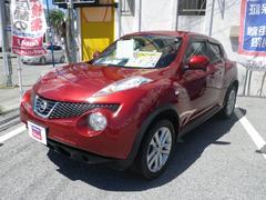 沖縄の中古車 日産 ジューク 車両価格 119万円 リ済別 平成23年 6.4万K レッド