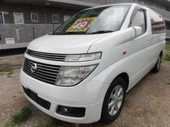 沖縄の中古車 日産 エルグランド 車両価格 49万円 リ済込 平成14年 7.9万K ホワイトパール
