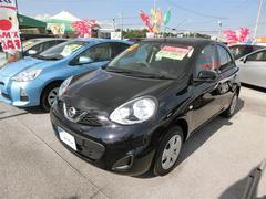 沖縄の中古車 日産 マーチ 車両価格 75万円 リ済別 平成26年 5.8万K ブラック