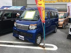 沖縄の中古車 ダイハツ アトレーワゴン 車両価格 80万円 リ済別 平成25年 3.4万K ブルーマイカメタリック