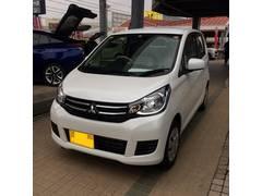 沖縄の中古車 三菱 eKワゴン 車両価格 114万円 リ済込 平成29年 7K パールホワイト