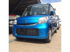 沖縄の中古車 スズキ スペーシア 車両価格 133万円 リ済込 平成29年 4K ブリスクブルーメタリック