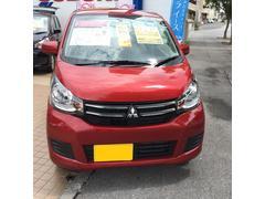 沖縄の中古車 三菱 eKワゴン 車両価格 85万円 リ済込 平成27年 4.2万K レッド