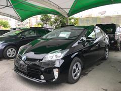 沖縄の中古車 トヨタ プリウス 車両価格 129.6万円 リ済別 平成24年 6.8万K ブラック