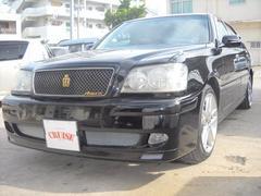 沖縄の中古車 トヨタ クラウン 車両価格 39万円 リ済込 平成14年 13.6万K ブラック