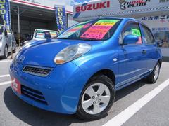 沖縄の中古車 日産 マーチ 車両価格 35万円 リ済込 平成19後 3.7万K ブルーM