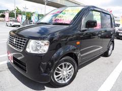 沖縄の中古車 三菱 eKワゴン 車両価格 29万円 リ済込 平成20年 11.9万K ブラックマイカ
