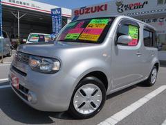 沖縄の中古車 日産 キューブ 車両価格 58万円 リ済込 平成22年 7.0万K ダイヤモンドシルバーメタリック
