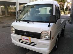 沖縄の中古車 スバル サンバートラック 車両価格 40万円 リ済込 平成18年 31.2万K パールホワイト