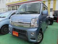 沖縄の中古車 スズキ エブリイワゴン 車両価格 99万円 リ済別 平成24年 4.4万K ブルー