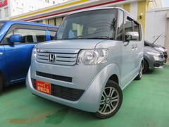 沖縄の中古車 ホンダ N BOX+ 車両価格 109万円 リ済別 平成25年 2.8万K ブルー