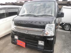 沖縄の中古車 スズキ エブリイワゴン 車両価格 45万円 リ済込 平成18年 13.1万K ブラック