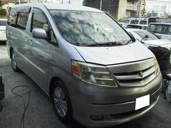 沖縄の中古車 トヨタ アルファードハイブリッド 車両価格 120万円 リ済込 平成16年 8.3万K シルバー