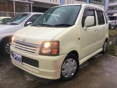 沖縄の中古車 スズキ ワゴンR 車両価格 19万円 リ済込 平成14年 10.7万K ベージュ