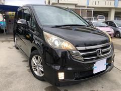 沖縄の中古車 ホンダ ステップワゴン 車両価格 64万円 リ済込 平成21年 13.1万K ブラックM