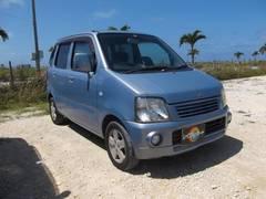 沖縄の中古車 スズキ ワゴンR 車両価格 16万円 リ済込 平成15年 8.2万K ライトブルー