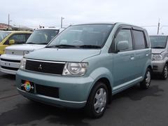 沖縄の中古車 三菱 eKワゴン 車両価格 13万円 リ済込 平成15年 8.9万K ライトブルー
