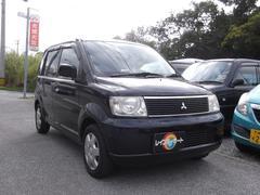 沖縄の中古車 三菱 eKワゴン 車両価格 18万円 リ済別 平成16年 9.5万K ブラック